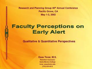 Qualitative  Quantitative Perspectives