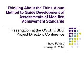Thinking About the Think-Aloud Method to Guide Development of ...