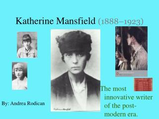 Katherine Mansfield 1888