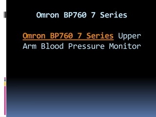 Omron BP760 7 Series