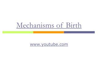 Mechanisms of Birth