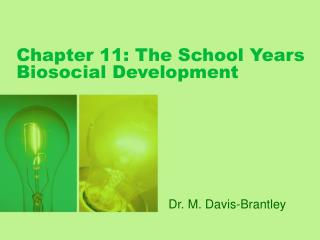 Chapter 11: The School Years Biosocial Development