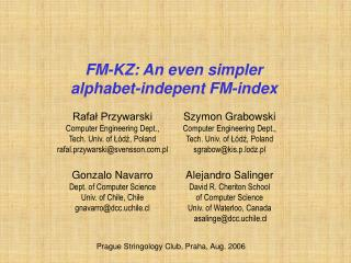 FM-KZ: An even simpler alphabet-indepent FM-index