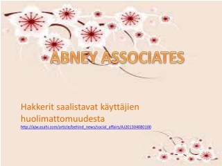 Abney and Associates news blog article: Hakkerit saalistavat