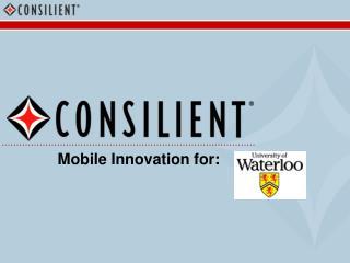 Mobile Innovation for:
