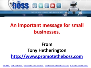 An Important Message for Small Businesses