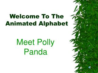 Welcome To The Animated Alphabet