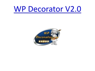WP Decorator V2