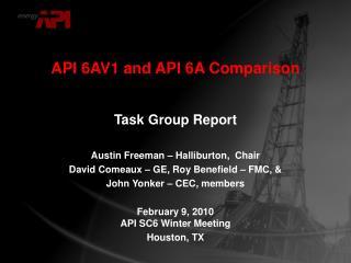 API 6AV1 and API 6A Comparison