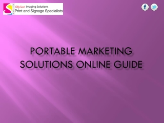 Portable Marketing Solutions Online Guide