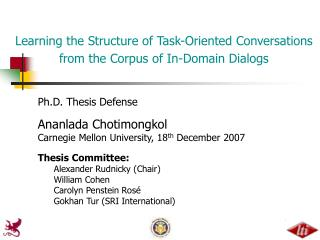 Learning the Structure of Task-Oriented Conversations from the Corpus of In-Domain Dialogs