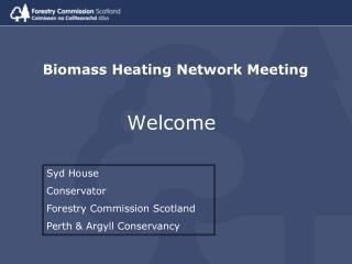 Biomass Heating Network Meeting
