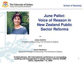 June Pallot: Voice of Reason in New Zealand Public Sector Reforms