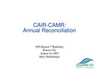 CAIR-CAMR: Annual Reconciliation