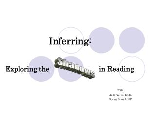 Inferring:
