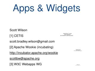 W3C Widgets: for Web