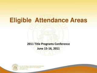 Eligible  Attendance Areas