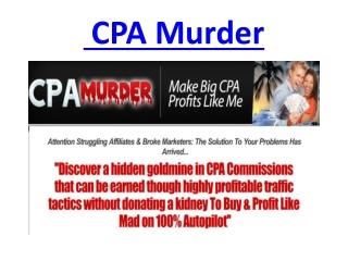 CPA Murder