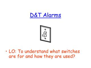 DT Alarms