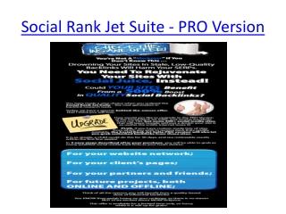 Social Rank Jet Suite - PRO Version