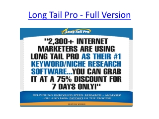 Long Tail Pro - Full Version