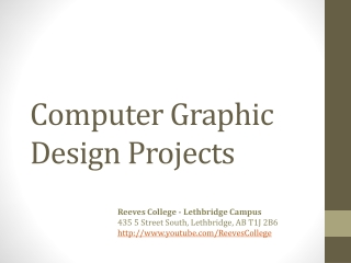 Computer Graphic Design Student Work at Reeves College