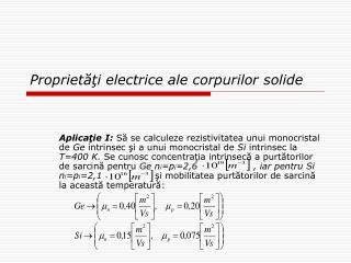 Proprietati electrice ale corpurilor solide