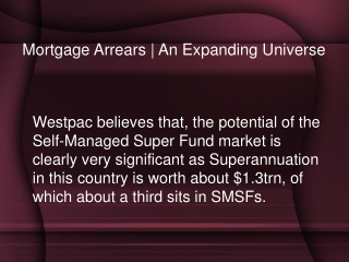Mortgage Arrears | An Expanding Universe
