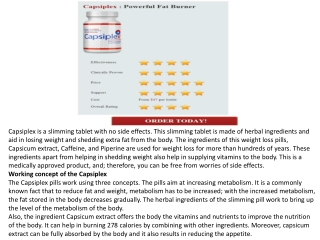 Capsiplex : Powerful Fat Burner