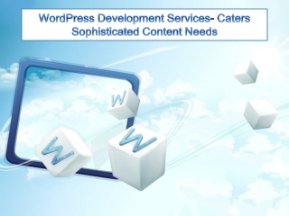 WordPress Development Services- Caters Sophisticated Content