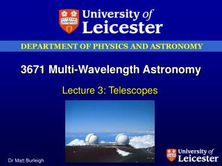 3671 Multi-Wavelength Astronomy