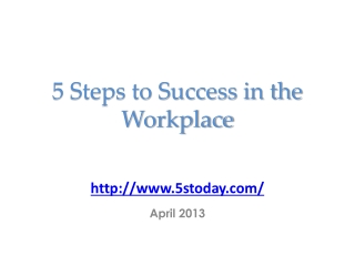 A Systematic Approach to Workplace Organization