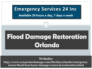 Flood Damage Restoration Orlando