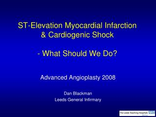 ST-Elevation Myocardial Infarction  Cardiogenic Shock - What ...