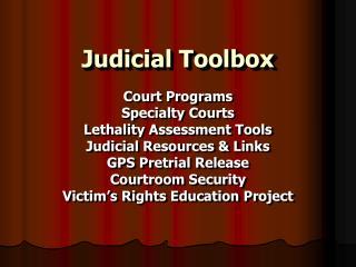 Judicial Toolbox