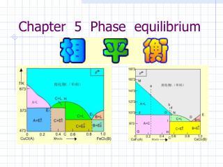 Chapter  5  Phase  equilibrium