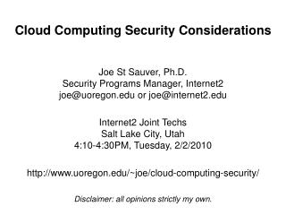 Cloud Computing Security Considerations