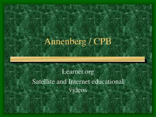 Annenberg  CPB