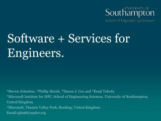 Software  Services for Engineers.