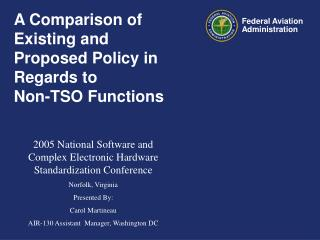A Comparison of Existing and Proposed Policy in Regards to Non ...