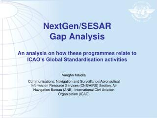 NextGenSESAR Gap Analysis