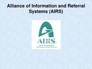 Alliance of Information and Referral Systems AIRS