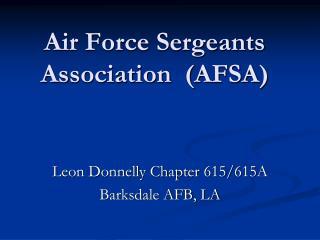 Air Force Sergeants Association AFSA