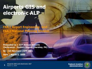 Airports GIS e-ALP - EXTERNAL Technical Briefing v1