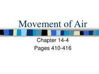 Movement of Air