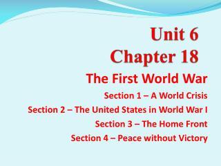 Unit 6 Chapter 18