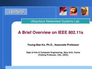 A Brief Overview on IEEE 802.11s