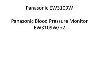 Panasonic EW3109W
