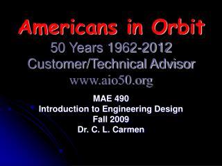 Americans in Orbit 50 Years 1962-2012