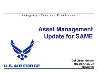 Asset Management Update for SAME